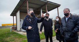 Miquel Noguer visita l'EDAR de Blanes, un exemple d'instal·lació de tractament global de l'aigua